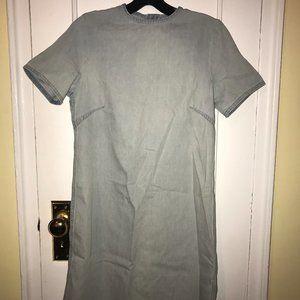 Vintage Denim Open Back Dress